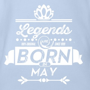 Legends are born in May birthday present - Organic Short-sleeved Baby Bodysuit