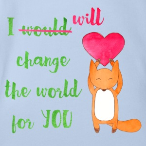 I Will Change The World For You - Organic Short-sleeved Baby Bodysuit