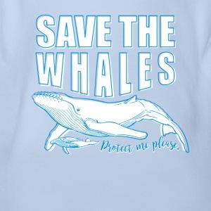 Save the whales - Organic Short-sleeved Baby Bodysuit