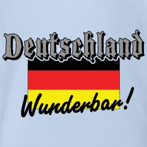 Deutschland Wunderbar German Flag - Organic Short-sleeved Baby Bodysuit