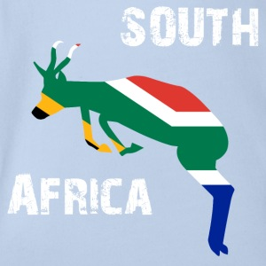 Nation-Design South Africa Springbok - Baby Bio-Kurzarm-Body