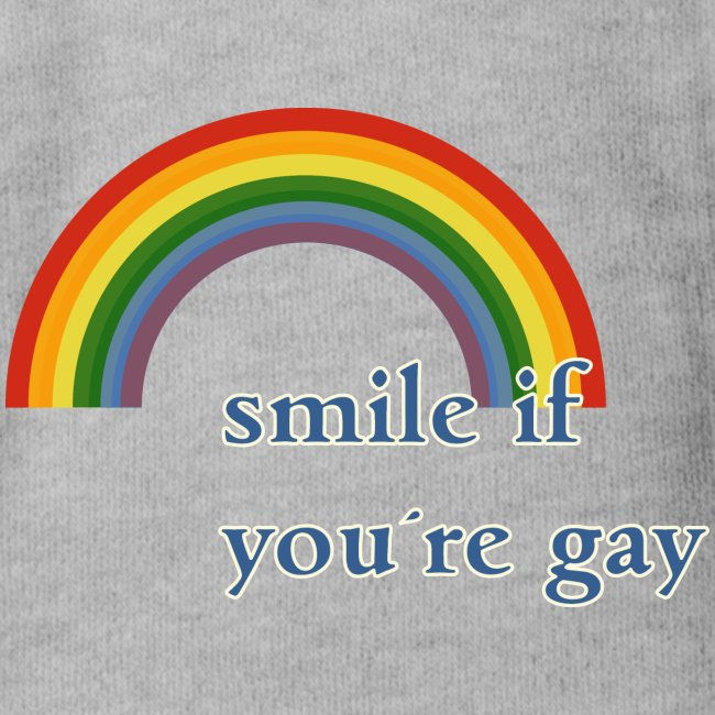 Lächle wenn du schwul bist | Vintage | LGBT |Pride