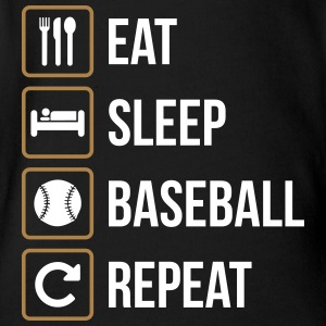 Eat Sleep Baseball Softball Repeat - Baby Bio-Kurzarm-Body