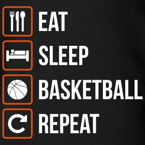 Eat Sleep Basketball Repeat - Baby Bio-Kurzarm-Body