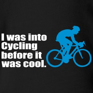 I was into cycling before - Organic Short-sleeved Baby Bodysuit