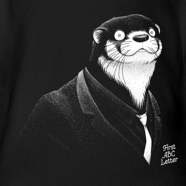 White Otter dressed in Black