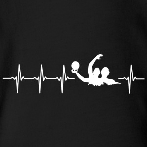 I love water polo (water polo heartbeat) - Organic Short-sleeved Baby Bodysuit