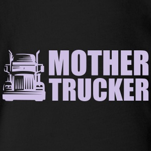 Mother Trucker - Organic Short-sleeved Baby Bodysuit