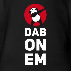 dab on em dabbing panda football touchdown mooving - Organic Short-sleeved Baby Bodysuit