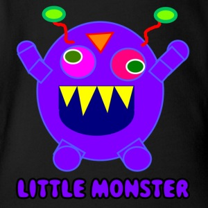 monster106 - Organic Short-sleeved Baby Bodysuit