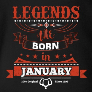 Legends January born birthday gift Young - Organic Short-sleeved Baby Bodysuit