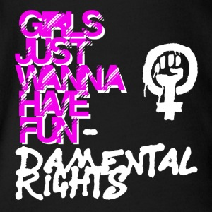 Girls just wana have fundamental rights - Body orgánico de maga corta para bebé