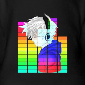 Electronic Music - Anime Guy - Organic Short-sleeved Baby Bodysuit