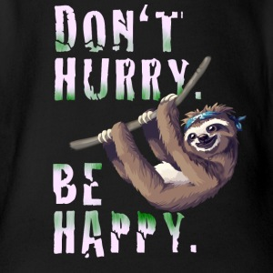 Sloth Slow chilling sleep lazy sloth Nerd spruc - Organic Short-sleeved Baby Bodysuit