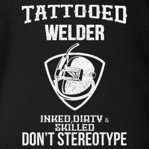 TATTOOED WELDER - Organic Short-sleeved Baby Bodysuit