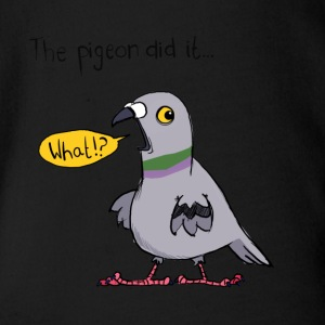 Blame The Pigeon - Organic Short-sleeved Baby Bodysuit