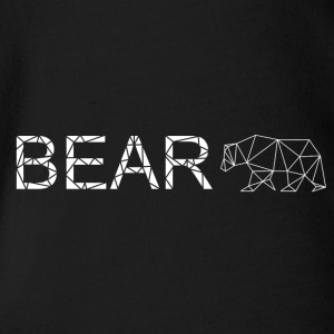 Bear geometry art - Organic Short-sleeved Baby Bodysuit