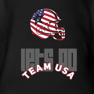 usa Football Touch down flag America Sport defenes - Baby Bio-Kurzarm-Body