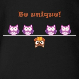 Unique OWL - Organic Short-sleeved Baby Bodysuit