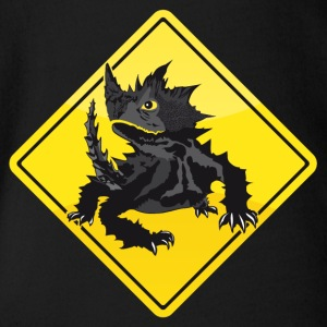 Australia Roadsign Thorny Devil - Organic Short-sleeved Baby Bodysuit