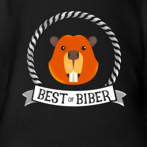 biber best great humor sänger fan musik just jubel - Baby Bio-Kurzarm-Body