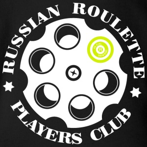 Russian Roulette Players Club -Logo 4 Black - Organic Short-sleeved Baby Bodysuit