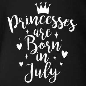 Princesses are born in July - Organic Short-sleeved Baby Bodysuit
