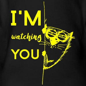 Watching you - Organic Short-sleeved Baby Bodysuit