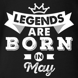 Legends May Birthday - Organic Short-sleeved Baby Bodysuit