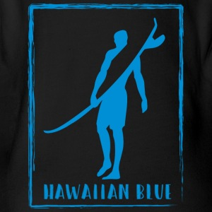 Hawaiian Blue Surfer Logo - Baby Bio-Kurzarm-Body