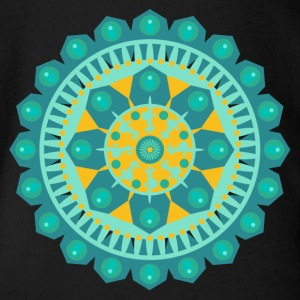 Mandala - Organic Short-sleeved Baby Bodysuit