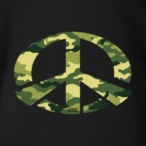 Peace - Camo Edition - Organic Short-sleeved Baby Bodysuit