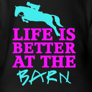 Life Is Better At The Barn - Jumper - Female - Organic Short-sleeved Baby Bodysuit