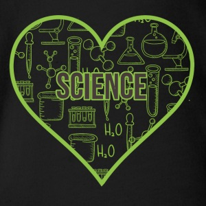 SCIENCE HEART HEAT - Ekologisk kortärmad babybody