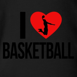 I LOVE BASKETBALL - Baby Bio-Kurzarm-Body