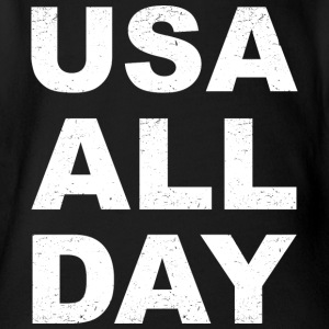 USA All Day - Baby Bio-Kurzarm-Body