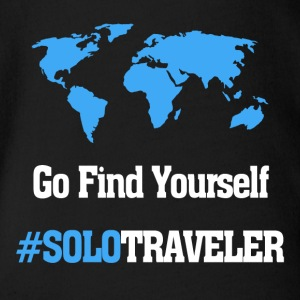 Go Find Yourself, SoloTraveler - Organic Short-sleeved Baby Bodysuit