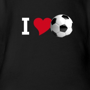 I love soccer love football tor team club player - Organic Short-sleeved Baby Bodysuit