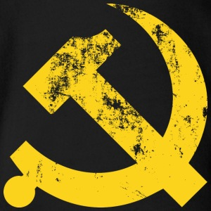 Hammer and Sickle Vintage Communist - Organic Short-sleeved Baby Bodysuit