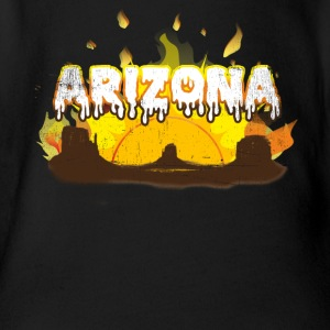 Arizona Meltdown - Organic Short-sleeved Baby Bodysuit