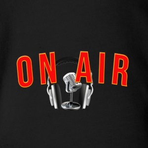On air radio fm - Organic Short-sleeved Baby Bodysuit