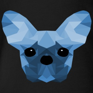 French Bulldog Low Poly Design blå - Økologisk kortermet baby-body