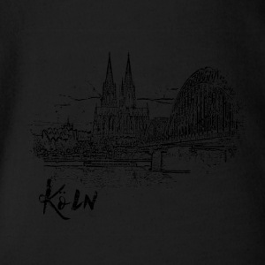 Cologne, city view as a sketch - Organic Short-sleeved Baby Bodysuit