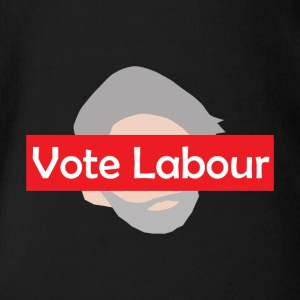 Vote Labour / Jeremy Corbyn - Organic Short-sleeved Baby Bodysuit
