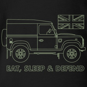 Eat, Sleep & Defend - Baby bio-rompertje met korte mouwen