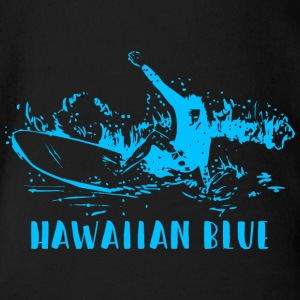 Hawaiian Blue Surfer - Baby Bio-Kurzarm-Body
