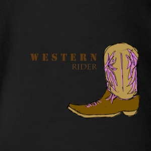 Western rider color - Organic Short-sleeved Baby Bodysuit