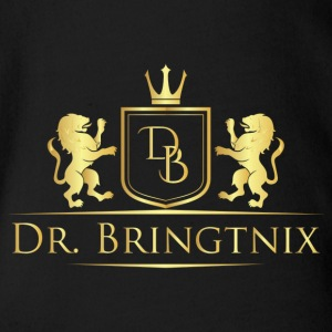 Dr.Bringtnix luxury coat of arms Löwengold - Organic Short-sleeved Baby Bodysuit