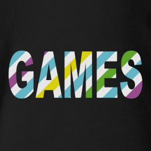 Game Stripes - Baby bio-rompertje met korte mouwen