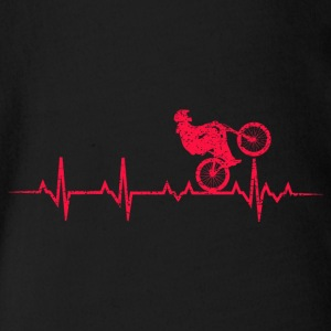 My Heart Beat Bike - Organic Short-sleeved Baby Bodysuit